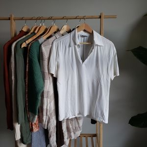 VERSACE White Short Sleeved Shirt